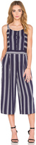1 STATE Button Front Culotte Jumpsuit