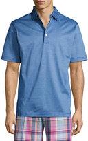 Peter Millar Finchs Stripe Lisle-Knit Polo Shirt