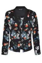 Select Fashion Fashion Womens Black Japanese Floral Jacket - size 6