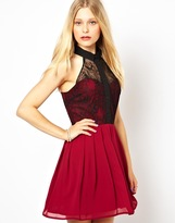 Love Halter Dress in Mixed Lace