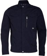 Bench Mens Cotton Biker Jacket Navy