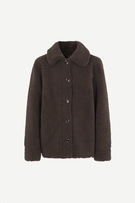 Samso Samsoe - Brown 12856 Aylin Jacket - XXS | polyester | brown - Brown/Brown
