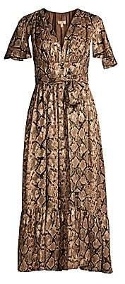 Michael Kors Women's Ruffle Cape Midi Dress