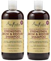 Shea Moisture Jamaica Black Castor Oil Strengthen, Grow & Restore Shampoo, 16.3 oz ( Pack of 2)