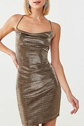 Forever 21 Striped Metallic Mini Dress