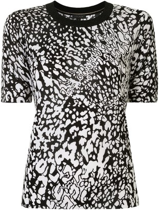 Escada abstract print T-shhirt
