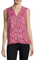T Tahari Bead-Accented Floral Shell