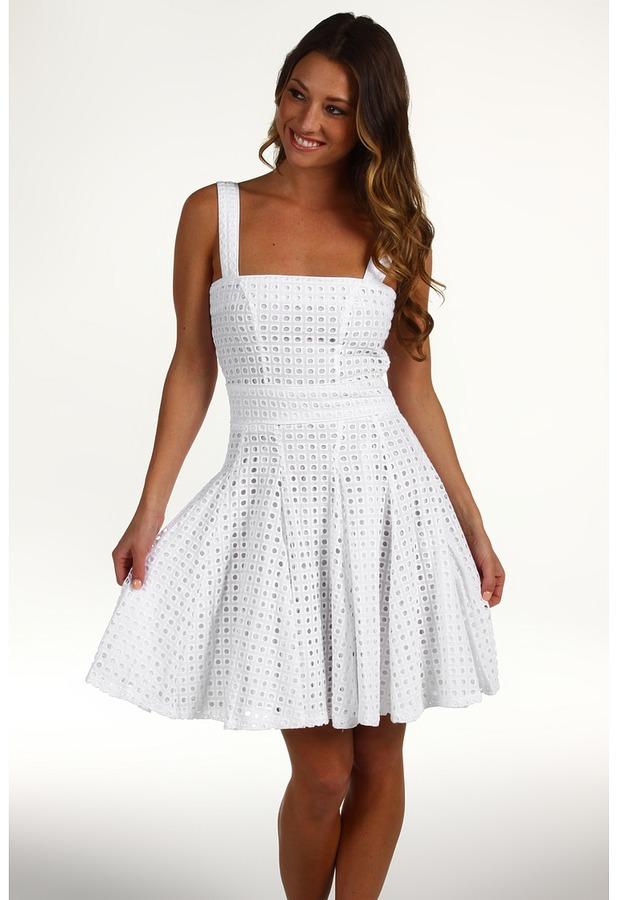 Cynthia Rowley Eyelet Dress (White) - Apparel