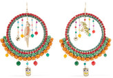 Rosantica Merida Gold-tone, Quartz And Enamel Earrings - Orange