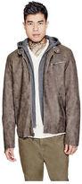 GUESS Men's Cayson Faux-Suede Jacket