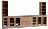 """Pottery Barn Printer's 128"""" Office Suite, Tuscan Chestnut"""