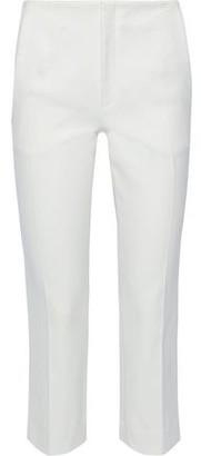 Roland Mouret Mimosa Cropped Cotton-blend Pique Slim-leg Pants