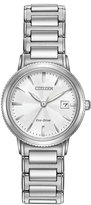 Citizen 27mm Silhouette Sport Bracelet Watch, Silver/White