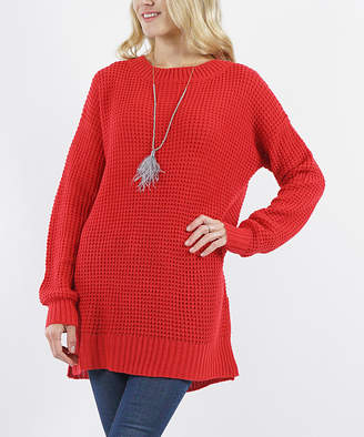 Lydiane Women's Tunics RUBY - Ruby Crewneck Side-Slit Sweater - Women