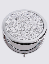 M&S Collection Glitter Compact Mirror