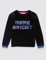 Marks and Spencer Shine Bright Sweatshirt (3-14 Years)