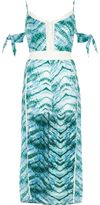 River Island Womens Blue tie dye beach maxi skirt beach playsuit