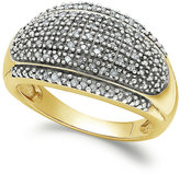 Townsend Victoria Rose-Cut Diamond Dome Ring in 18k Gold over Sterling Silver or Sterling Silver (1/4 ct. t.w.)