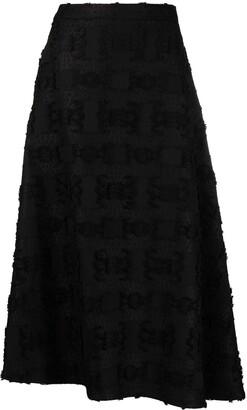 Jil Sander Asymmetric Tweed Skirt