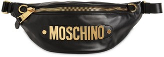 Moschino Macro Logo Leather Belt Bag