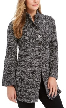 Style&Co. Style & Co Petite Coatgin Sweater, Created for Macy's