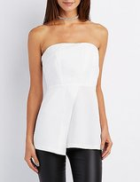 Charlotte Russe Strapless Structured Peplum Top