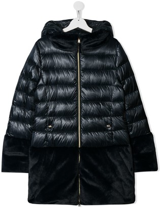Herno faux fur lined padded coat