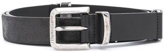 Just Cavalli Panelled Leather Buckle Belt