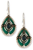 Armenta New World Teal Mosaic Earrings with Champagne Diamonds