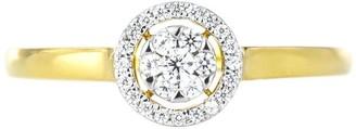Love Diamond 9ct Gold 13pt Diamond Halo Ring