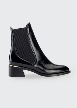 Jimmy Choo 45mm Rourke Naplak Leather Ankle Booties