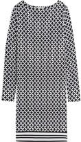 MICHAEL Michael Kors Bermont Printed Stretch-jersey Mini Dress - Black