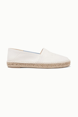 Rag & Bone Edie Collapsible-heel Logo-embossed Leather Espadrilles - Off-white