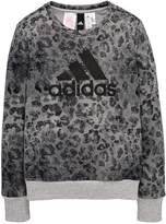 adidas Older Girl Linear Printed Sweat Top