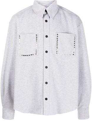 Natasha Zinko Stud Embellished Jersey Shirt