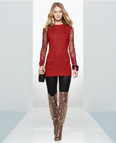 INC International Concepts Lace-Sleeve Tunic Sweater, Only at Macy's