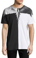 Marcelo Burlon County of Milan Split Feathers Short-Sleeve T-Shirt