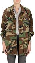Harvey Faircloth Women's Patch Camouflage Cotton Field Jacket