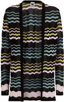 M Missoni Sheer Wave Knit Cardigan