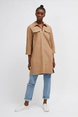 French Connection Briella Cotton Belted Shirt Dress
