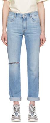 Stella McCartney Blue Straight-Leg Jeans