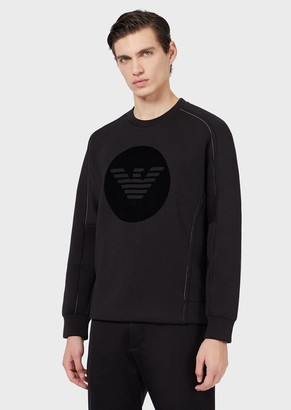 Emporio Armani Double-Jersey Sweatshirt With Eagle Print