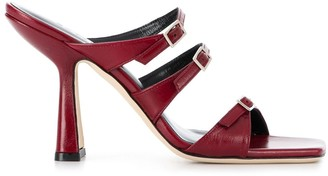 BY FAR Malene 110mm leather sandals