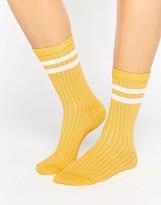 Asos Stripe Ribbed Ankle Socks