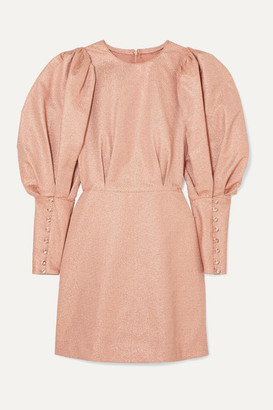 Sylvie Anna Mason Metallic Crepe Mini Dress - Blush