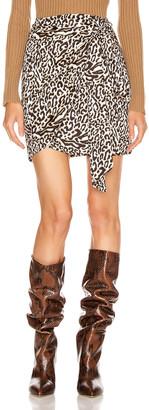 Andamane Camilla Wrap Mini Skirt in Leo White | FWRD