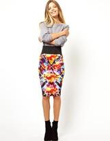Asos Wasp Pencil Skirt in Galaxy Print