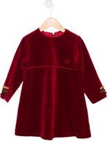 Christian Dior Girls' Velvet Bow-Accented Dress
