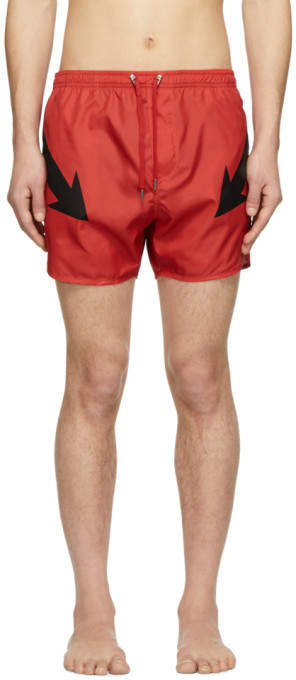 Neil Barrett Red Arrow Swim Shorts