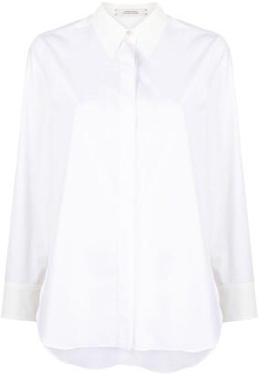 Dorothee Schumacher Poplin Power concealed-placket shirt